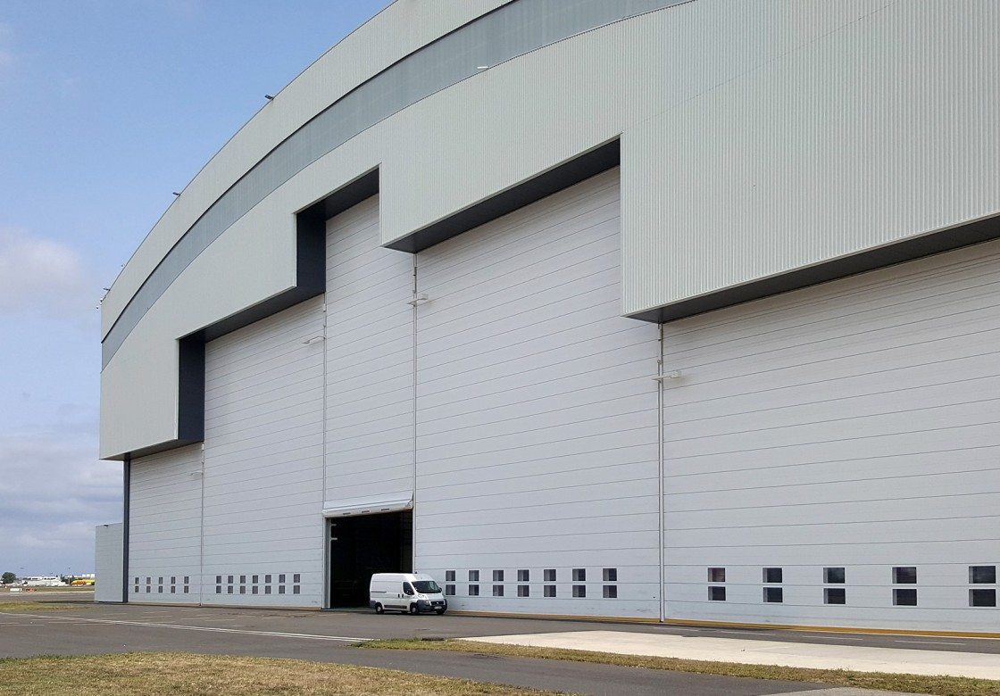 fabric fold up hangar doors for aircraft hangars in all size