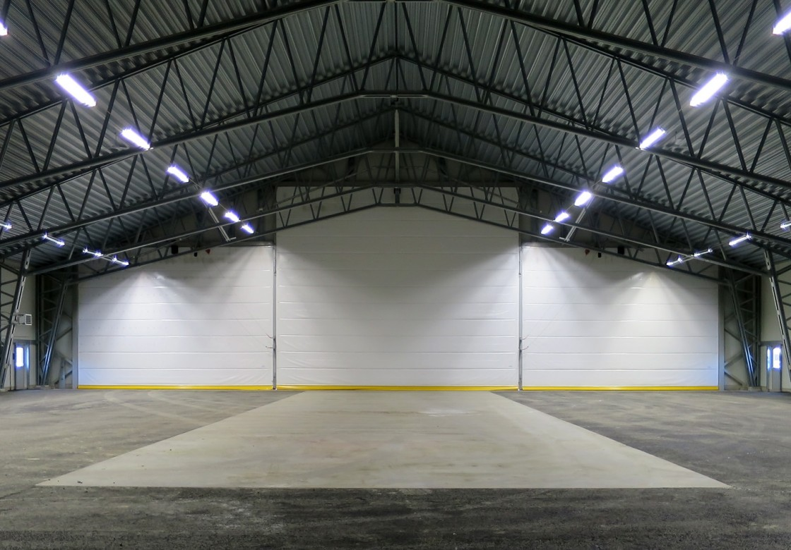 Fabric Fold Up Hangar Doors For Aircraft Hangars In All
