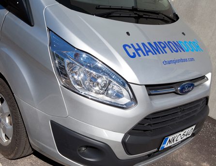 champion industrial door van