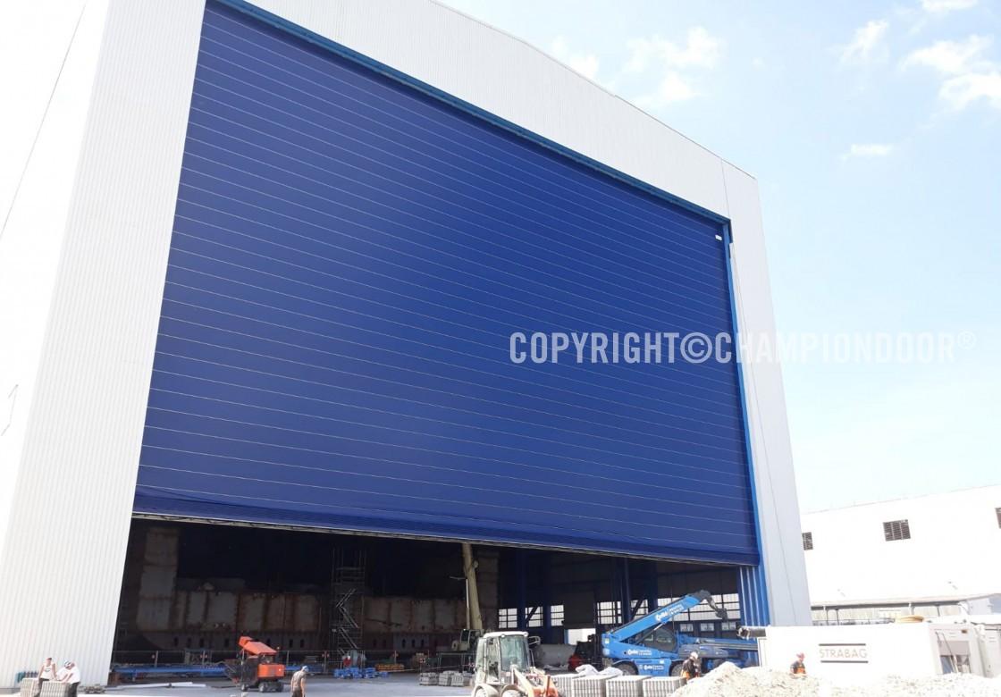 Shipyard doors and harbour doors for high wind conditions - NK2 Double shipyard doors » Ch&ion Door & Shipyard doors and harbour doors for high wind conditions - NK2 ...