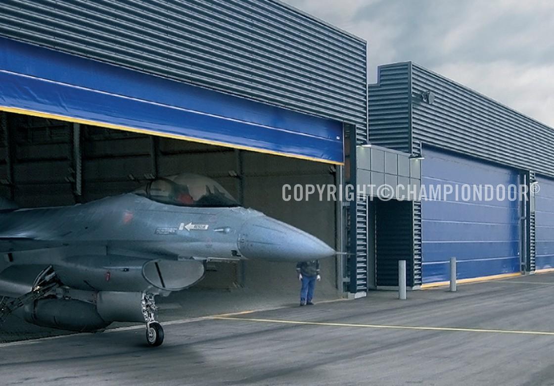 NK2 Double military hangar doors & NK2 Double - Industrial doors and shipyard doors - Champion Door ...