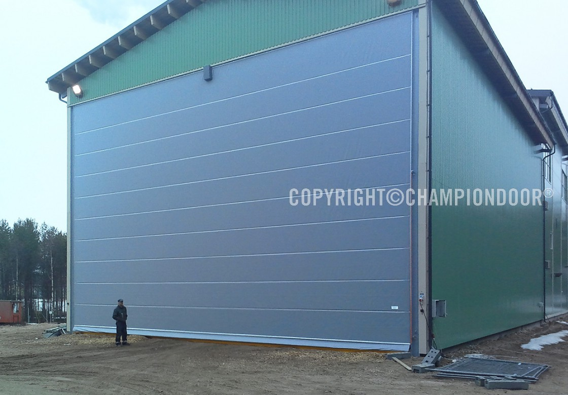 Ch&ion Door NK2 Double fabric fold-up doors in energy chip storage & NK2 Double - Industrial doors and shipyard doors - Champion Door ...
