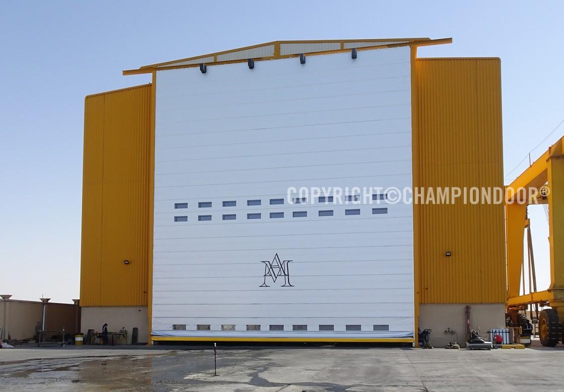 NK2 Double Shipyard Door & Shipyard doors and harbour doors for high wind conditions - Shipyard ...