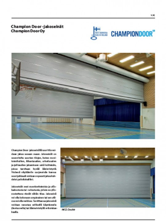 Champion Door jakoseinat